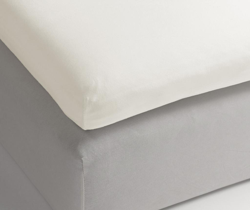 Rjuha z elastiko za nadvzmetnico Sateen Off White 160x200 cm