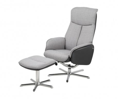 Комплект сгъваем фотьойл и табуретка за крака Annora