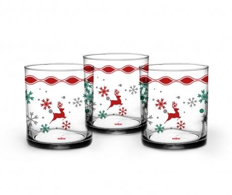 Sada 3 pohárov Snowy Deer 250 ml