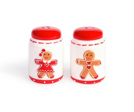 Sada soľnička a korenička Gingerbread Boy and Girl