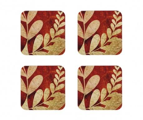 Golden Foliage 4 db Poháralátét