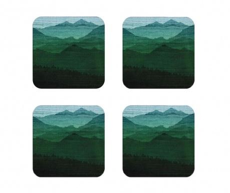 Mountains 4 db Poháralátét