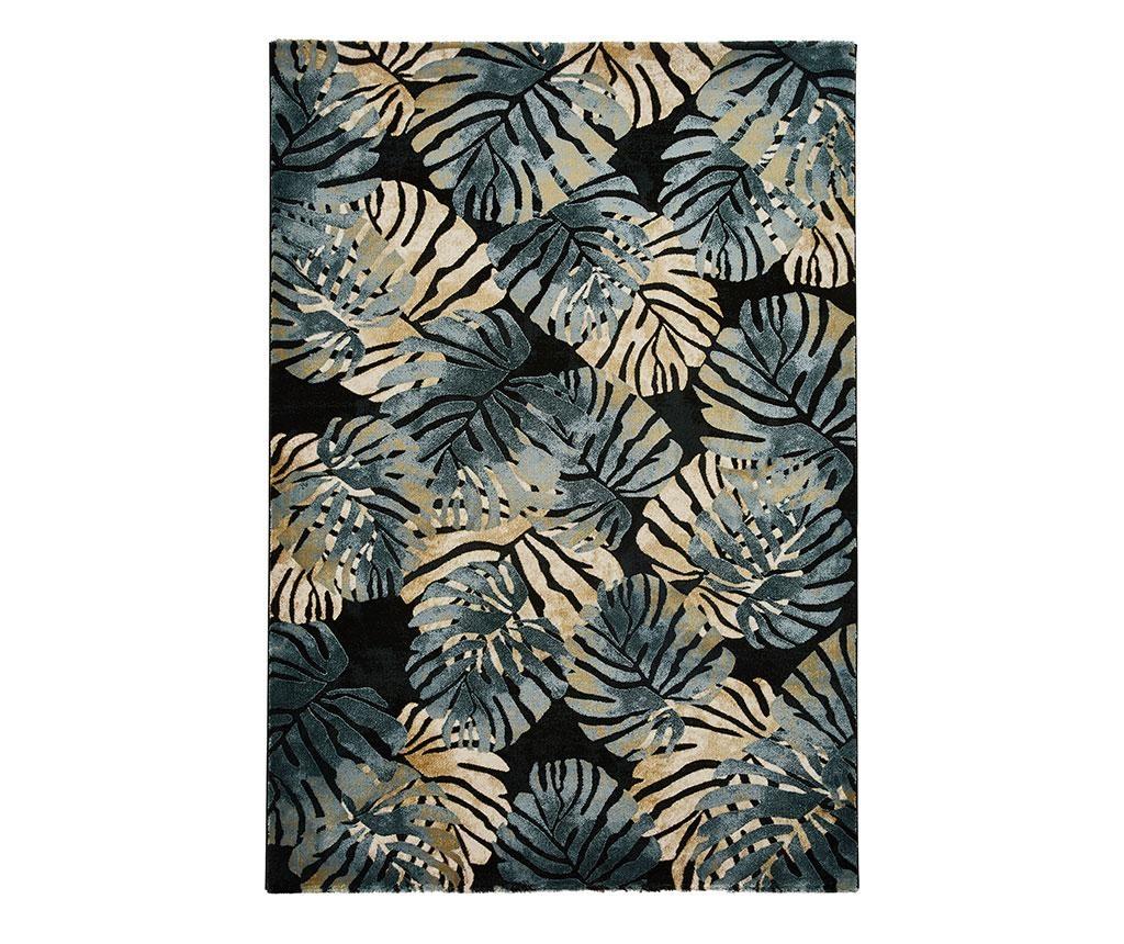 Covor Tropics Black & Blue 120x170 cm