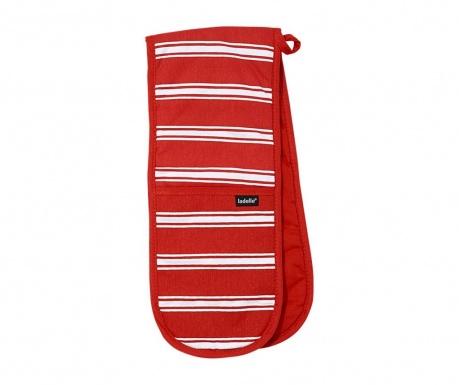 Butcher Stripe Red Dupla konyhai fogókesztyű