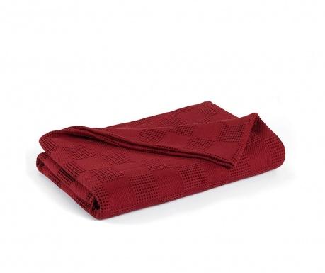 Prikrývka Pique Edinburgh Red Wine 220x230 cm