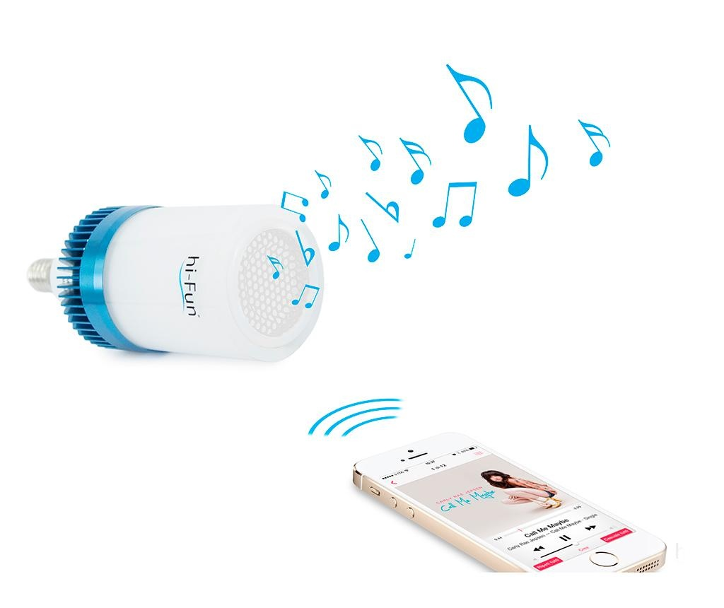 LED svetilka z mikrofonom hi-Ambient E14