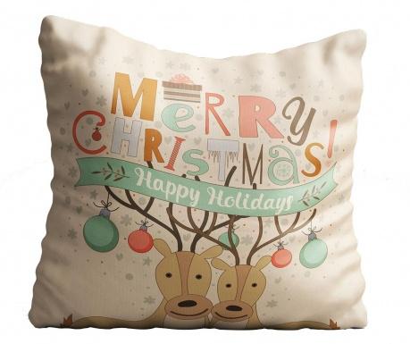 Διακοσμητικό μαξιλάρι Happy Holidays 43x43 cm