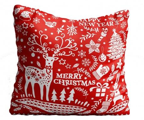 Διακοσμητικό μαξιλάρι Christmas Swirls 43x43 cm
