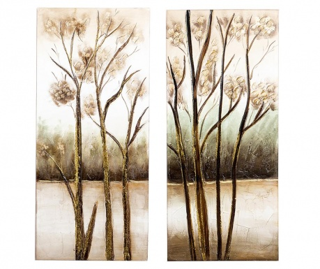 Fall Trees 2 db Kép 40x90 cm