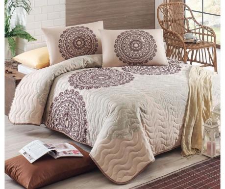 Set s prešitim posteljnim pregrinjalom Double Figura Beige