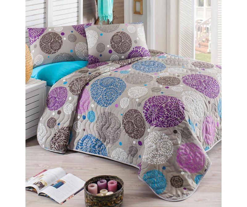 Set cuvertura matlasata Double Ibena Lilac