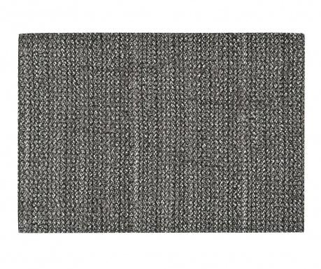 Black Leather Tányéralátét 30x43 cm