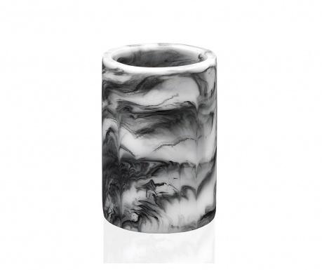 Marble Swirl Black Fürdőszobai pohár