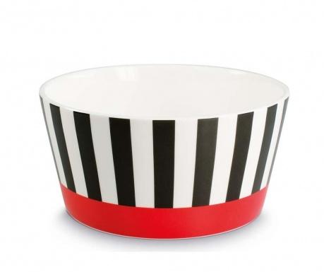 Black Stripes Mély tál 450 ml