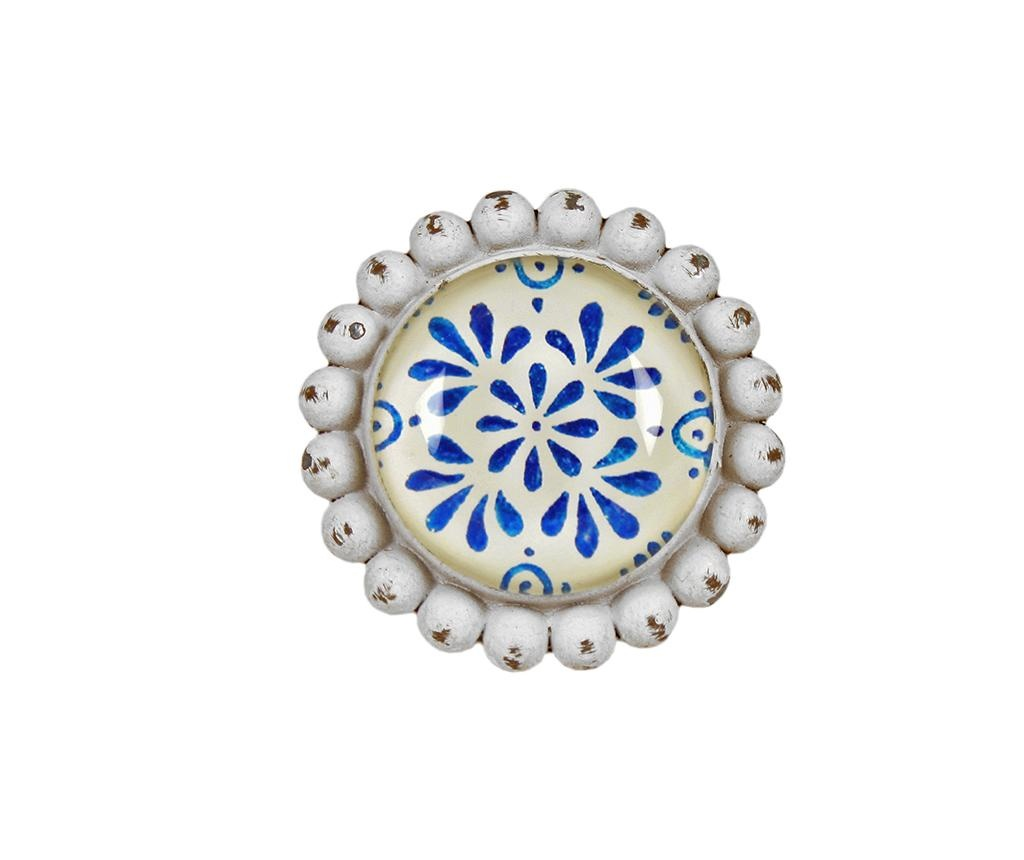 Blue Flowers Fiókgomb