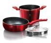 Trzyczęściowy zestaw naczyń do gotowania Metallic Line Burgundy Edition