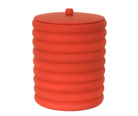 Кош за отпадъци с капак Waves Red 5 L