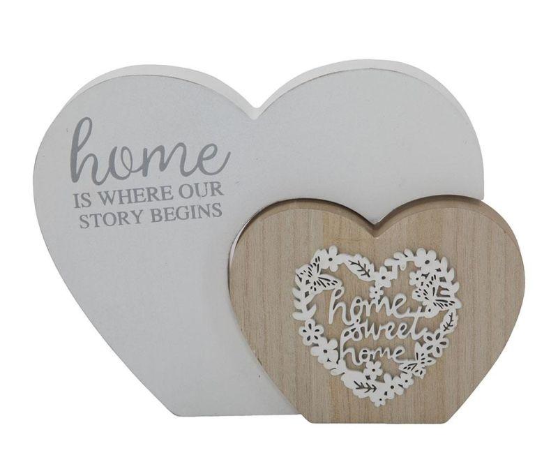 Wooden Hearts Dekoráció