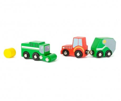 Set 2 autića igračke s prikolicom i dodatkom Farm Vehicle