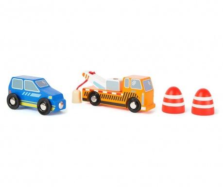 Set 2 autića igračke i 2 dodatka Tow Service