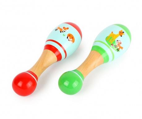 2 zvečke igračka Little Fox