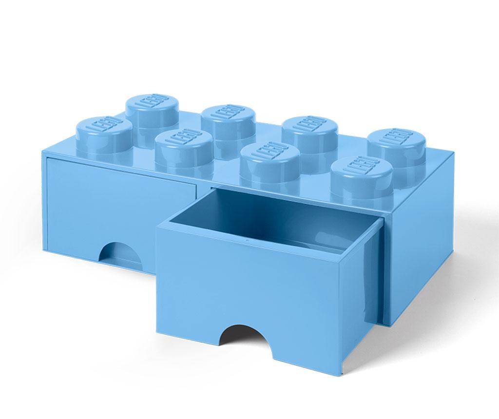 Cutie pentru depozitare Lego Square Duo Light Blue