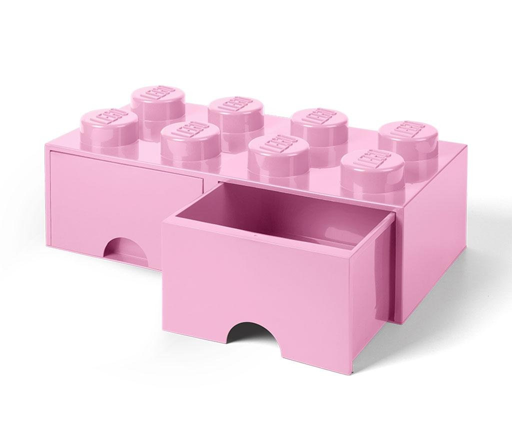 Kutija za spremanje Lego Square Duo Light Pink