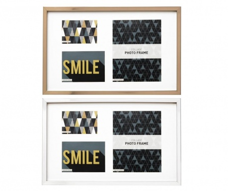 Set 2 okvira za slike Smile Beige Rectangle