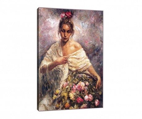 Πίνακας Maria with Flowers