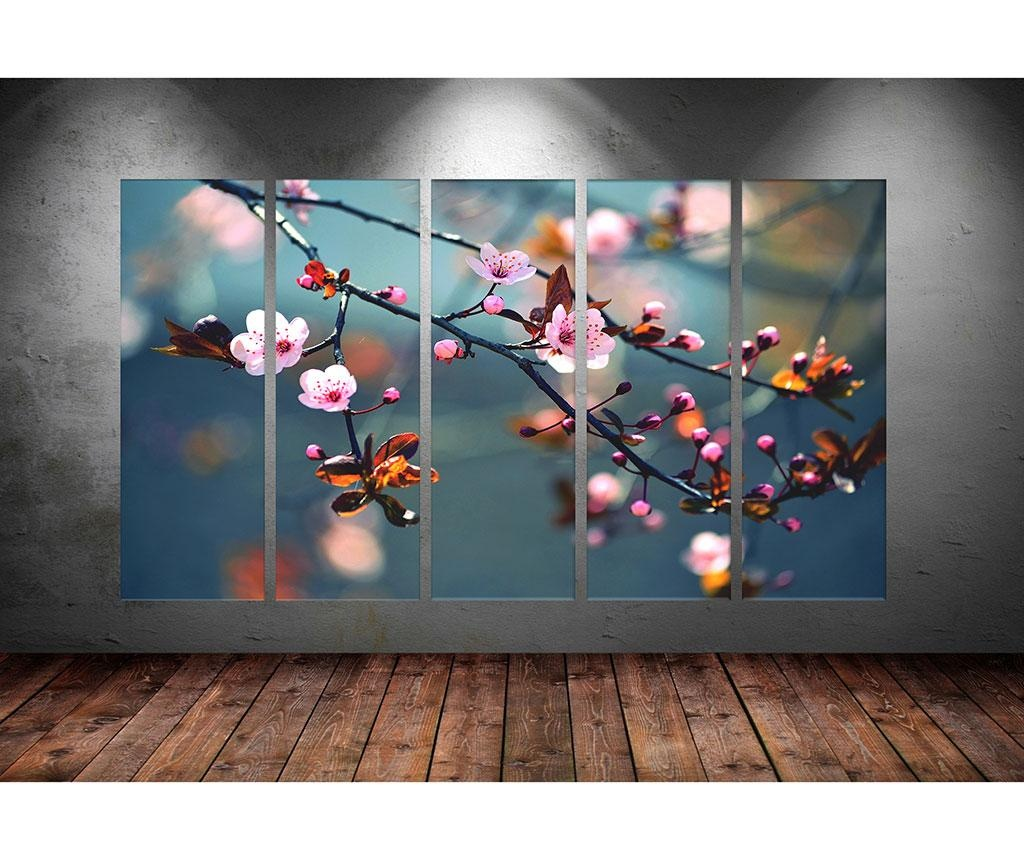 Set 5 tablouri Dew 30x90 cm