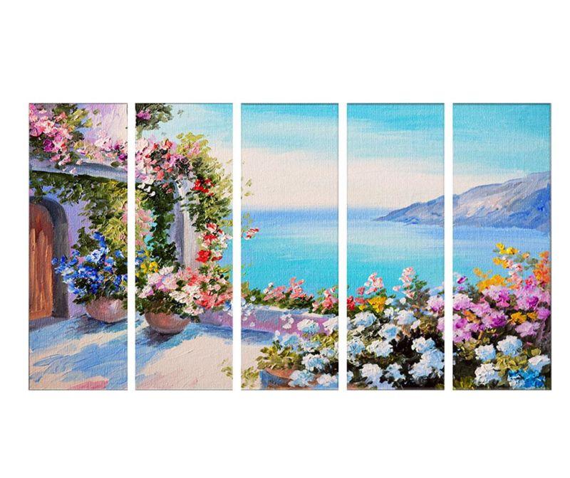 Set 5 tablouri Athens 30x90 cm