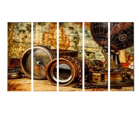 Комплект 5 картини Traveler 30x90 см