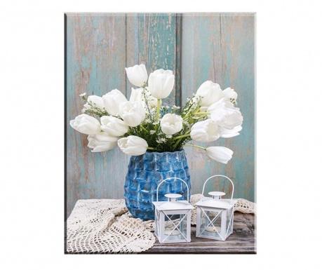 Картина Tulips Blanco 100x140 см