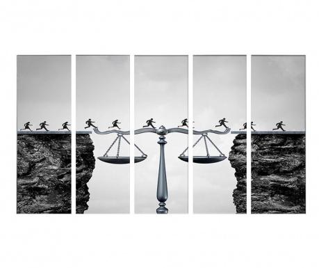 Sada 5 obrazů Equilibria 5 Pcs. Each 30x90cm