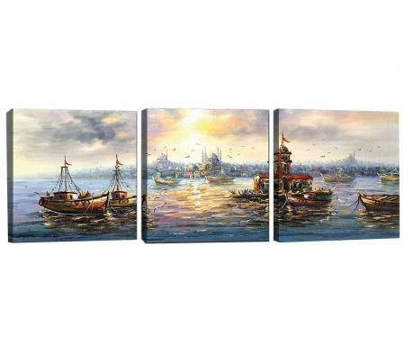 Σετ 3 πίνακες Sunny Vibe 30x30 cm