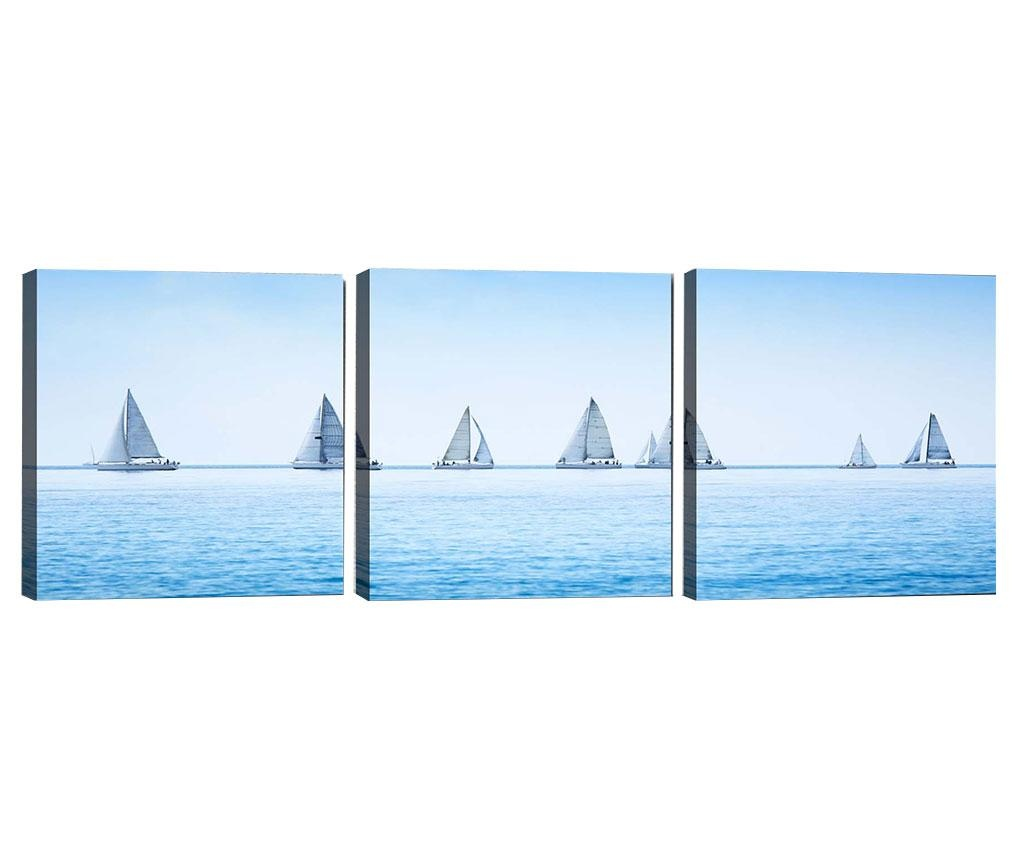 Set 3 tablouri Ocean View 30x30 cm
