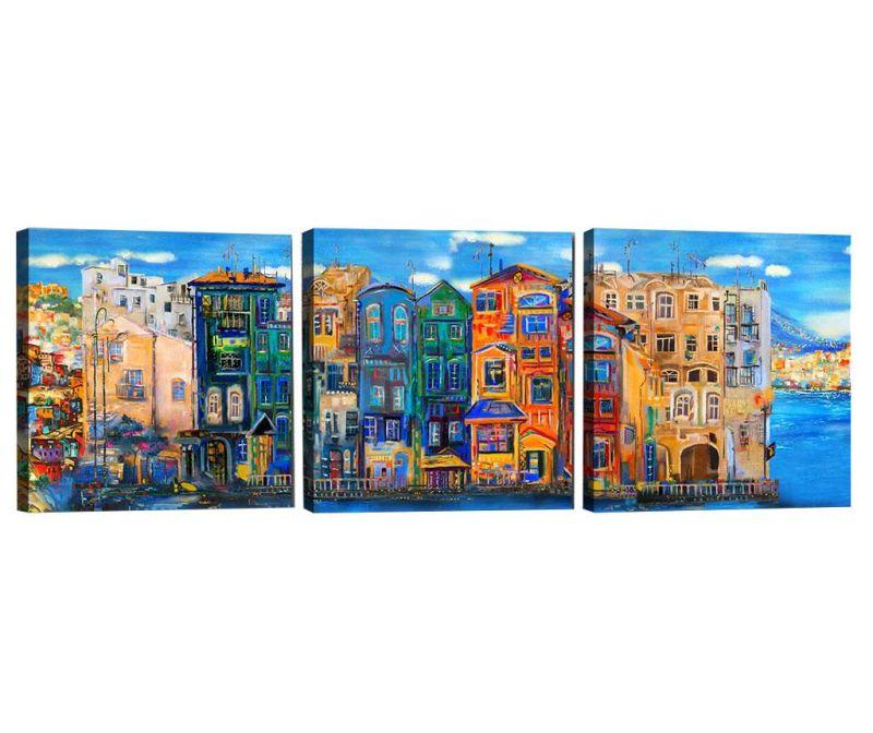 Sada 3 obrazů City View 30x30 cm