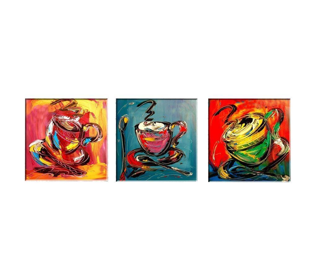 Set 3 slike Coffee Time 30x30 cm