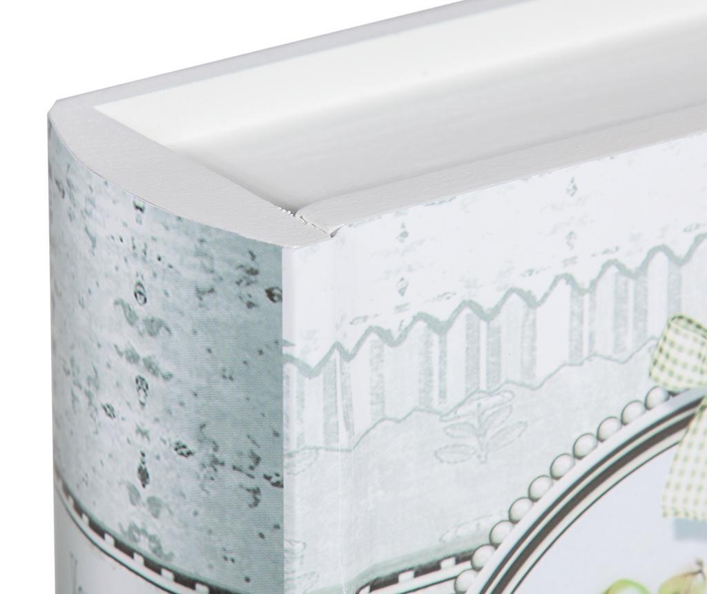 Sada 2 krabic ve tvaru knihy na šicí potřeby Romantic