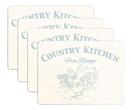 Set 4 pogrinjkov Country Kitchen 22x29 cm