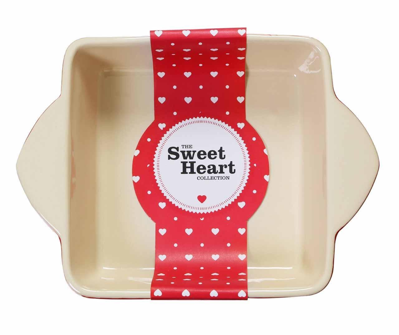 Vas de copt Sweet Heart Square 2 L