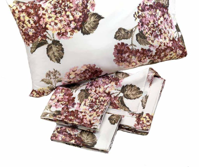 Set de pat Double Percale Ortensia Old Pink