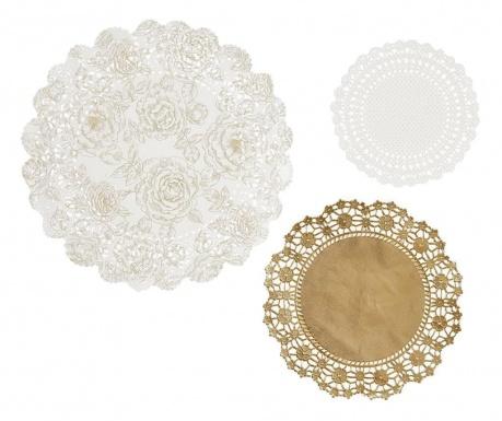 Zestaw 24 serwetek dekoracyjnych Fancy Gold
