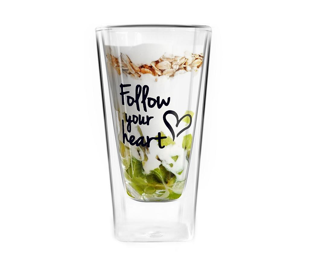 Pahar Follow Your Heart 300 ml