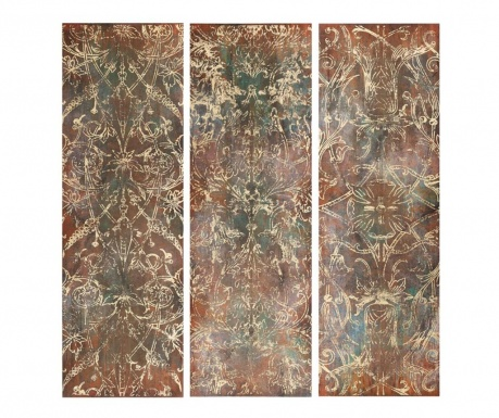 Set 3 tablouri Afiya 30x90 cm