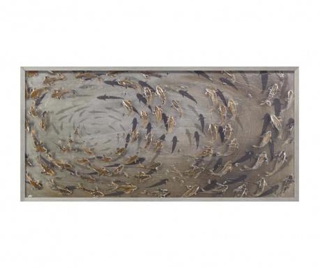 Картина Fishes 60x120 см