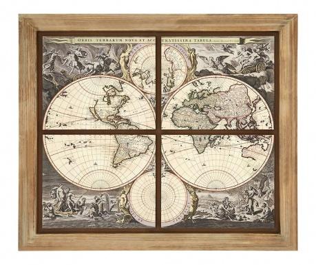 Tablou World Map 110x124 cm