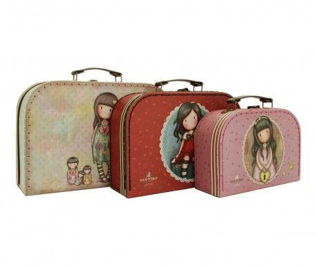 Set 3 valize decorative Gorjuss