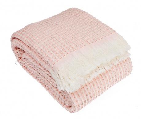 Pled Waffle Pink 130x180 cm