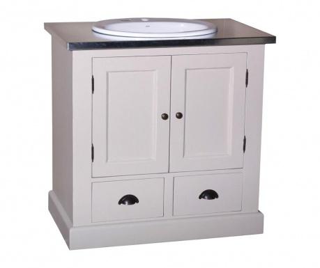 Small Compact Mosdószekrény mosdóval